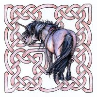 Celtic Knotwork Unicorn by Joceweir