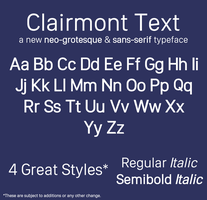Clairmont Text Font - Preview + Feedback Wanted by simalary44
