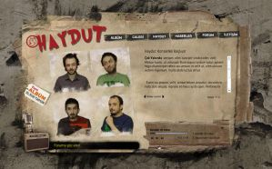 Haydut Web site by feartox
