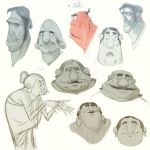 Characterdesign faces 04  by Dattaraj