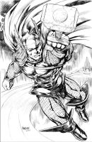 Thor pencil commission by gammaknight