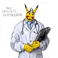 doctor pikachu by GoreReptil