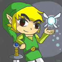 Toon Link and Celia by PokeSonFanGirl