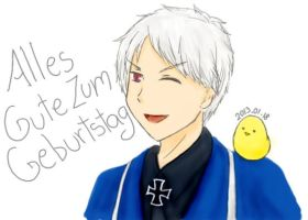 APH - HAPPY AWESOME BIRTHDAY PRUSSIA!! by ArekkuAika