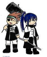 Kanda and Lavi by scarlet-bunnies
