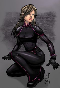 X3 Kitty Pryde colored by JamieFayX