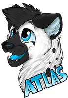 +AT+ Atlas Badge For SpaggleMutt by DogsTeeth