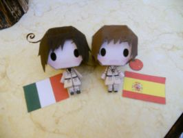 Spain and Romano papercraft-finished by DisruptiveDiva