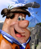 FRED FLINTSTONE in Real Life by otas32