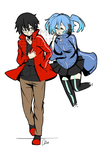 [Commission Example] Ene and Shintaro by Demonstarr13