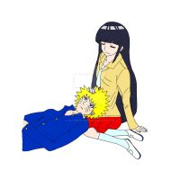 NaruHina - Lunch break by ButterflyFire