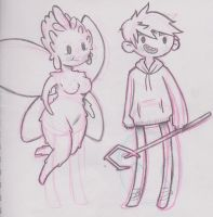 Jack Frost and Tooth Sketch by Grekabekiss