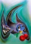 Swallow with cherries by dx