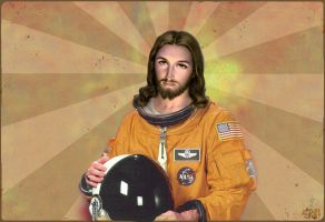 Astronaut Jesus by anderpeich