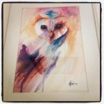 Watercolour Owl by al-turnertive