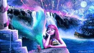 The Little Mermaid (wallpaper dowload for free) by Lolita-Artz