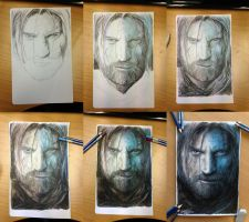 Step by step progress of my Jaime Lannister drawin by AtomiccircuS