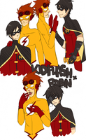 Kid Flash x Robin by Jellygay