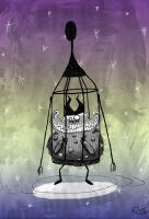 Caged Space Monster by RDTJ