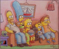 THE SIMPSONS COUCH GAG by OMKDrawings