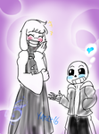 Undertale: Sans and Toriel by Yurafo