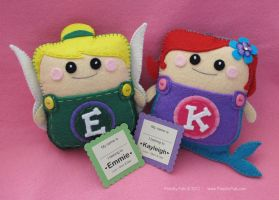 Fairy and Mermaid Pouchy Pals by PouchyPals