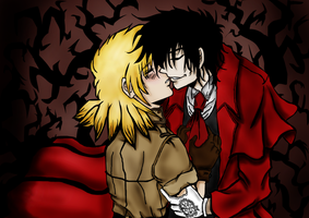 Alucard and Seras by Anneliesse666