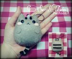 Pusheen Felt Keychain by SongAhIn