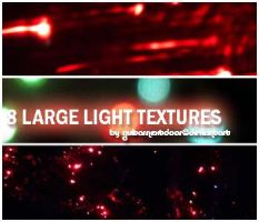 8 Large Light Textures by guitarnextdoor