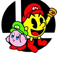 kirby and pac man  by Neonetsue101