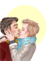 Klaine Kiss by SoulValkyrie