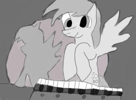 derpy on keyboard by daylover1313