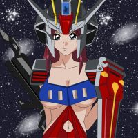Flay Strike Gundam by tifa-bells