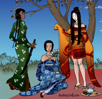 3 Geishas fire earth water by KyaValentine