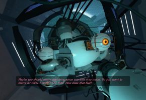 GLaDOS is mean... by Connorchap