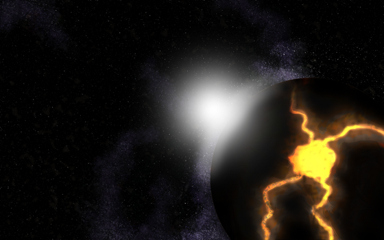 The Volcanic Planet by DarthBotto