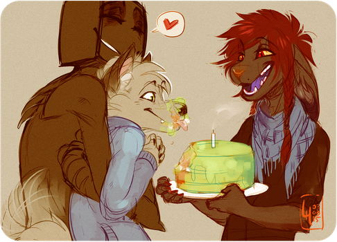 Motok's Birthday by LiLaiRa