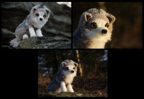 Crochet wolf by novablue