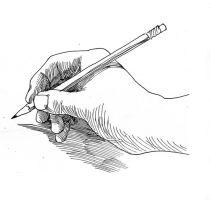Holding the pencil for Detail Drawing by SpiritedFool