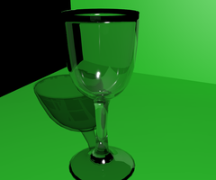 glass cup by thefallenone3296