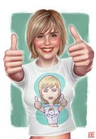 Alison Lohman t-shirt by Ferlancer