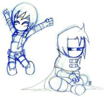 chibi yuffie and vincent by bluesketches