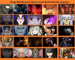 Top 25 Scary face and evil grins meme by artdog22