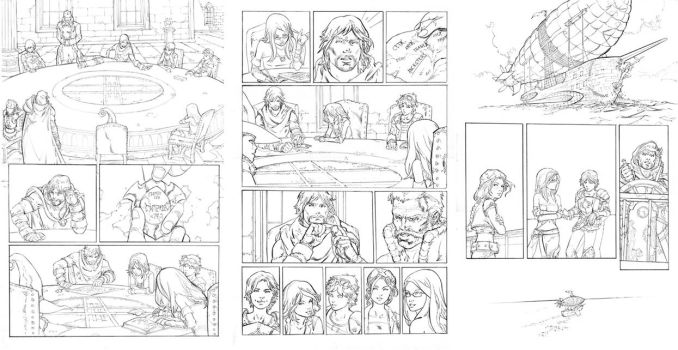The lost kids preview, pencils by surfercalavera