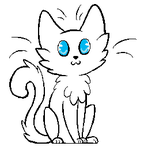 Free Cat Lineart :3 by VelociraptorCupcake