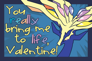 Xerneas Valentine by The-Blue-Pangolin