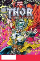 Thor Goddess sketch cover by ElvinHernandez