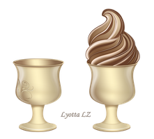 Chocolate ice cream in bowl by Lyotta
