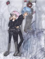Ikuto and Amu secret agent by Rachel-angelhero