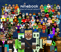 90 minecrafters on minebook by MisteriosM